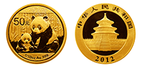 1/10 Unze Gold China Panda 2012