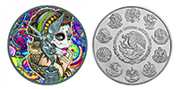 1 Unze Silber Libertad 2018 – La Catrina – Art Color Collection