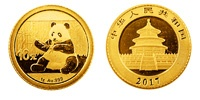 30 Gramm Gold China Panda 2018 / 2017 / 2016